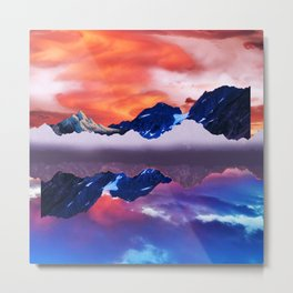 Floating mountains Metal Print