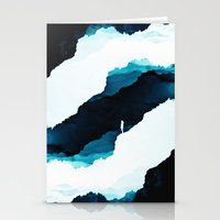 teal Stationery Cards featuring Teal Isolation by Stoian Hitrov - Sto