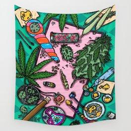 Cannabis Altar I Wall Tapestry