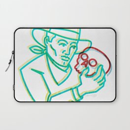 Cowpoke Hamlet - Cowboy With Skull - Western Pop Art By CJ Hughes Laptop Sleeve