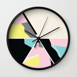 triangle no.3 / with love Wall Clock