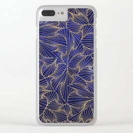 Tangles Blue and Gold Clear iPhone Case