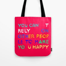 RELY / ABSOLUTELY HAPPY VERSION Tote Bag