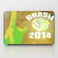 brasil iPad Cases featuring Brasil 2014 by Beard Brothers Designs