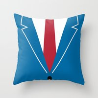 mad men Throw Pillows featuring Mad Men by Zhi-Yun