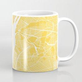 Manhattan map yellow Coffee Mug