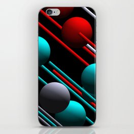balls and 3 colors iPhone Skin