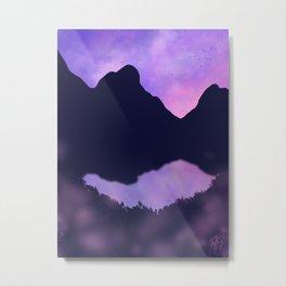 Pastel Sky and Wildflowers Metal Print