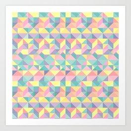 Azteca Quatre Art Print