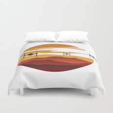 To the sunset Duvet Cover