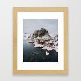 Winter in Hamnøy, Norway Framed Art Print
