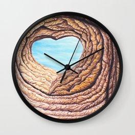 Le coeur de l'amour éternel Wall Clock