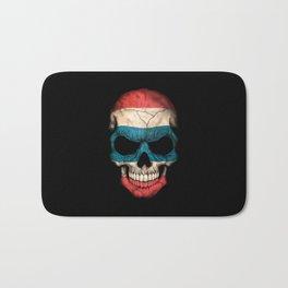 Dark Skull with Flag of Thailand Bath Mat