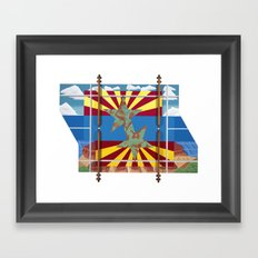 Altered State: AZ Framed Art Print