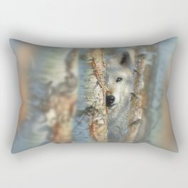 White Wolf - Focused Rectangular Pillow
