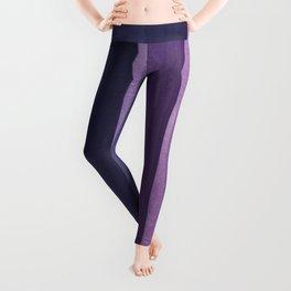 Purple Gradient on Wood Leggings