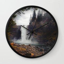 Snoqualmie Falls, WA Wall Clock