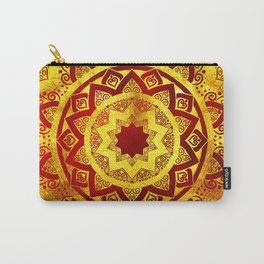 RED AND GOLD MANDALA FLOWER Carry-All Pouch