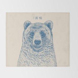Bear (Ivory) Throw Blanket