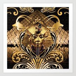 All Over Print Luxury Gold Vintage Pharaoh Ornament Art Print