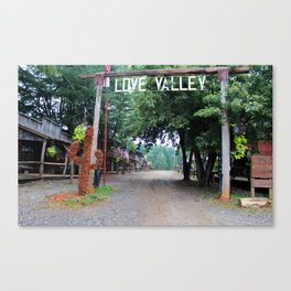 Town Of Love Valley Canvas Print