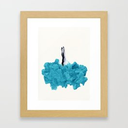 Into the Smoke Framed Art Print