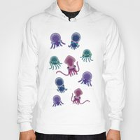 squid Hoodies featuring Squid by Steph Chen