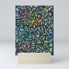 Rainbow Leaves Mini Art Print