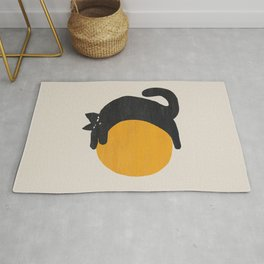 Cat with ball Rug