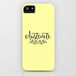 Jane Austen Floral Austenite iPhone Case
