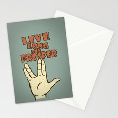 LIVE LONG AND PROSPER! - Star Trek Stationery Cards