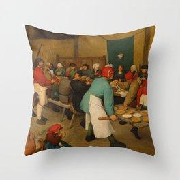 "Pieter Bruegel (also Brueghel or Breughel) the Elder ""The Peasant Wedding"" Throw Pillow"