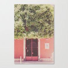 Behind the red door Canvas Print
