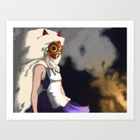 mononoke Art Prints featuring Mononoke by Oda Oda