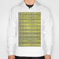 yellow pattern Hoodies featuring Yellow fractal pattern. by Assiyam