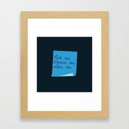 Pick Me. Choose Me. Love Me. (MerDer, Grey's Anatomy) Framed Art Print