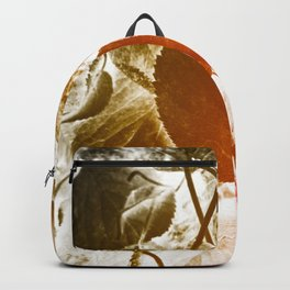 Abstract autumn leaves. Backpack