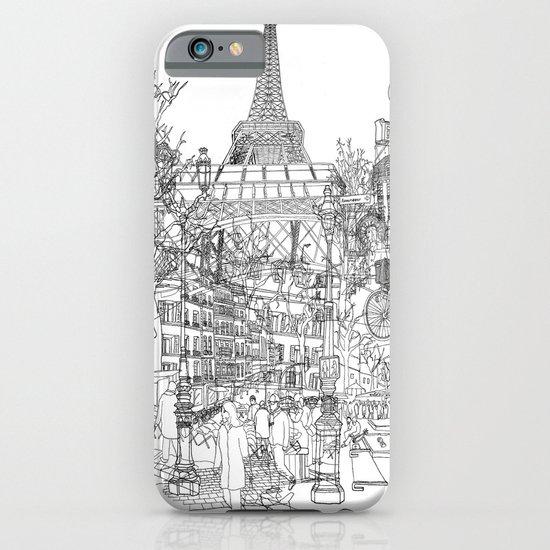 Paris! B&W iPhone & iPod Case