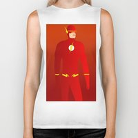 the flash Biker Tanks featuring Flash by pablosiano