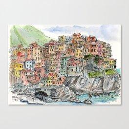 Manarola, Canvas Print