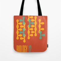 biology Tote Bags featuring Biology 12 by lynseycreative