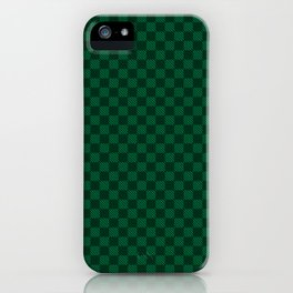 Green cell pattern iPhone Case