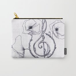 Music & poppy Carry-All Pouch