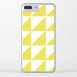 Scandinavian Pattern 01 Yellow Clear iPhone Case