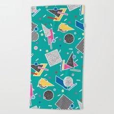 Memphis Inspired Design 8 Beach Towel