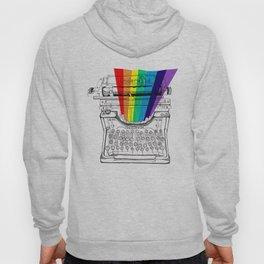 underwood typewriter with a sliver of rainbow Hoody