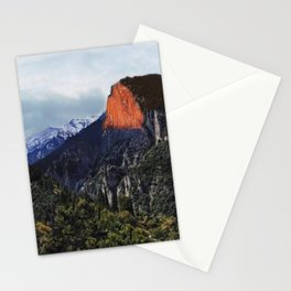 Sunrise trip to the mountains Stationery Cards