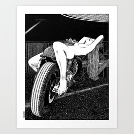 asc 585 - L'étalage (The display) Art Print