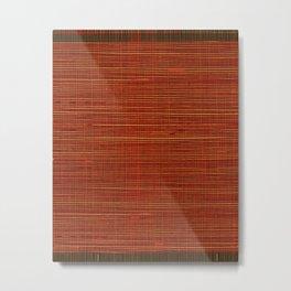 Wicker red design background Metal Print