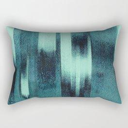 Green and Blue Abstract Pattern Rectangular Pillow